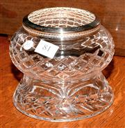 Sale 8015A - Lot 81 - A vintage hand cut lead crystal Rose Bowl