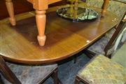 Sale 8093 - Lot 1426 - D End Extension Table with Single Leaf