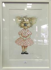 Sale 8222 - Lot 71 - Artist Unknown, Koala in Polka Dots, image size 49 x 32cm, signed lower right Provenance; Designed for Fox Backlot