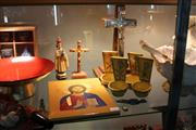 Sale 8362 - Lot 244 - Chrome & Timber Crucifix & other Religious Ware incl. Goebel Fonts