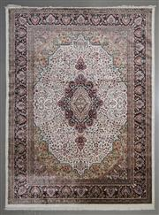 Sale 8545C - Lot 18 - Indian Jaipur Silk & Wool 275cm x 370cm