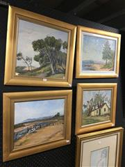 Sale 8726 - Lot 2057 - Collection of Four Unsigned Oil Paintings