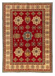 Sale 8800C - Lot 29 - An Afghan Kazak Hand Knotted Tribal Rug With Bold Geometric Motifs, 215 x 295cm