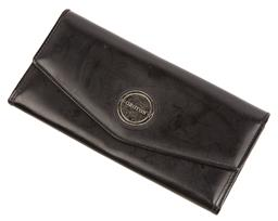 Sale 9090F - Lot 195 - AN OROTON ENVELOPE WALLET; in black matte leather  20x10cm (some markings to back)