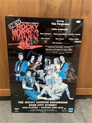 Sale 9069 - Lot 2083 - Rocky Horror Showroom at Star City, Sydney (signed by the cast) 68 x 48cm