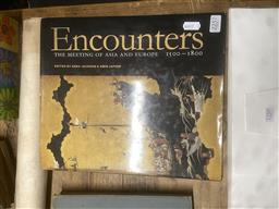 Sale 9101 - Lot 2257 - Two hard cover books Encounters by V & A exhibition publications together with Encyclopaedia of Antiques by Arthur Negus