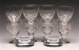Sale 9136 - Lot 237 - A set of eight Webb and Corbett crystal drinking glasses