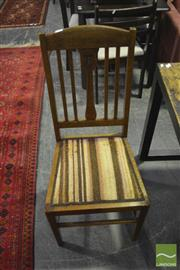 Sale 8307 - Lot 1081 - Pair of Oak Dining Chairs