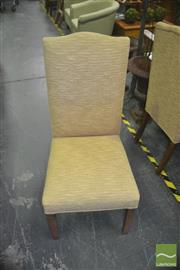 Sale 8331 - Lot 1020 - Set of Six Yellow Upholstered Dining Chairs