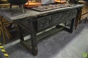 Sale 8361 - Lot 1086 - Rustic Hall Table