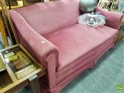 Sale 8465 - Lot 1093 - Pink Upholstered Two Seater Sofa
