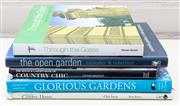 Sale 8550H - Lot 124 - A group of five hardcover books with subjects on gardens and country homes including; glorious gardens, Australian country homes and...