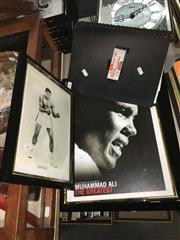 Sale 8659 - Lot 2321 - Framed Cassius Clay Picture & 3 Posters of Muhammad Ali, Plus Folder incl. Ali