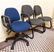 Sale 8774A - Lot 387 - Three office chairs