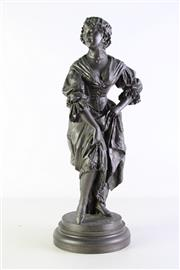 Sale 8948 - Lot 20 - A Spelter Figure of Girl (H 50cm)