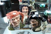 Sale 8098 - Lot 55 - Royal Doulton The Fortune Teller, Guy Fawkes & Captain Hook Toby Jugs