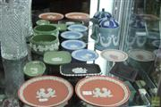 Sale 8217 - Lot 68 - Wedgwood Jasper Ware Pin Dishes & Container