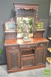 Sale 8272 - Lot 1011 - Victorian Mirrored back Sideboard