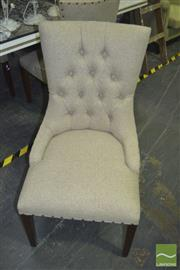 Sale 8331 - Lot 1557 - Set of 3 French Style Buttonback Dining Chairs