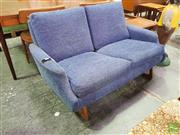 Sale 8409 - Lot 1040 - Fabric Two Seater Sofa over Sled Base