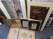 Sale 8557 - Lot 2070 - Collection of Assorted Artworks Including: Original Paintings, Decorative Prints & Copper Relief, various sizes