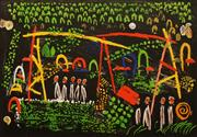 Sale 8658A - Lot 5068 - Colin Lanceley (1938 - 2015) - Night Garden, 1997 62 x 90cm