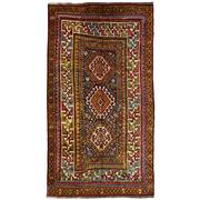 Sale 8860C - Lot 47 - An Antique Caucasian Kazak Rug, in Handspun Wool 246x138 cm