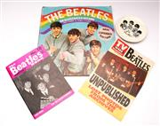 Sale 9078 - Lot 88 - A Collection of Beatles memorabilia incl dish and magazines