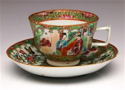 Sale 9107 - Lot 82 - A Famille Verte Cup and Saucer
