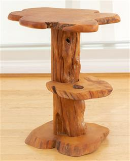 Sale 9165H - Lot 143 - An organic tree form timber side table, Height 53cm