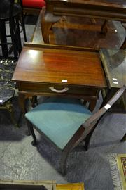 Sale 8134 - Lot 1050 - Telephone Table w Rattan Back Chair