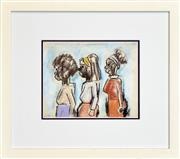 Sale 8266 - Lot 589 - Josef Herman (1911 - 2000) - Three Women 20 x 24.5cm