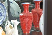 Sale 8348 - Lot 68 - Cinnabar Style Lacquer Vase