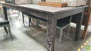 Sale 8392 - Lot 1017 - Oak Dining Table with Blackened Finish (210cm)