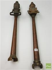 Sale 8460 - Lot 1015 - Two French Copper Fire Nozzles