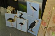 Sale 8503 - Lot 2080 - 5 Hawkins Signed Oils (Birds/Identified)