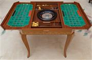 Sale 8677B - Lot 601 - A Sorrento ware square top games table with classical chariot rider motif on cabriole legs, H x 74, W x 76cm, D x 76cm