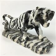Sale 8758 - Lot 393 - Stone Carved Tiger