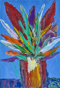 Sale 9093A - Lot 5022 - Kevin Charles (Pro) Hart (1928 - 2006) - Flowers in a Vase 29 x 19 cm (frame: 65 x 73 x 5 cm)