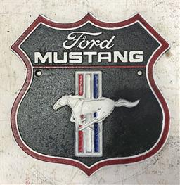 Sale 9121 - Lot 1058 - Cast iron Mustang sign