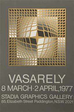 Sale 9189A - Lot 5062 - VICTOR VASARELY (1906 - 1997) 'Exhibition Poster for Stada Graphics Gallery, 1977' serigraph (unframed) 96.5 x 71.5 cm Editions Lahu.