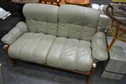 Sale 8046 - Lot 1090 - Swedish Teak and Leather Sofa
