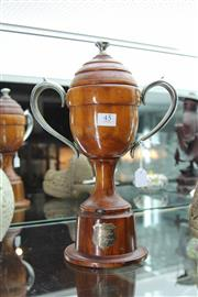 Sale 8100 - Lot 45 - Timber Lidded Presentation Cup To Ray George, from G Ebejer