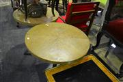 Sale 8134 - Lot 1029 - Pair of Round Timber Top Cafe Tables