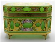 Sale 8139 - Lot 62 - Murano Green Glass Octagonal Jewellery Box