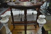 Sale 8289 - Lot 1056 - Timber Demilune Hall Table