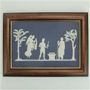 Sale 8393B - Lot 39 - Wedgwood Jasper Ware Framed Plaque