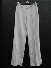 Sale 8451B - Lot 78 - Armani Light Grey Linen-Look Pants, EU42