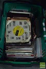 Sale 8497 - Lot 2343 - Box of LP 45s & Musical DVDs