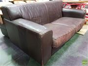 Sale 8554 - Lot 1054 - Leather 2 Seater Lounge